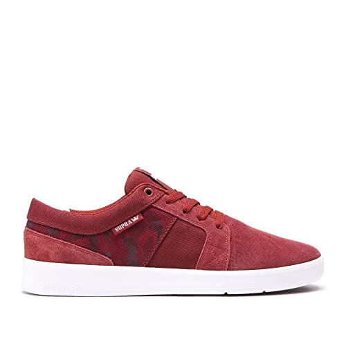 Supra - Zapatillas de Deporte Hombre, Rojo (Granate), 48.5 EU: Amazon.es: Zapatos y complementos
