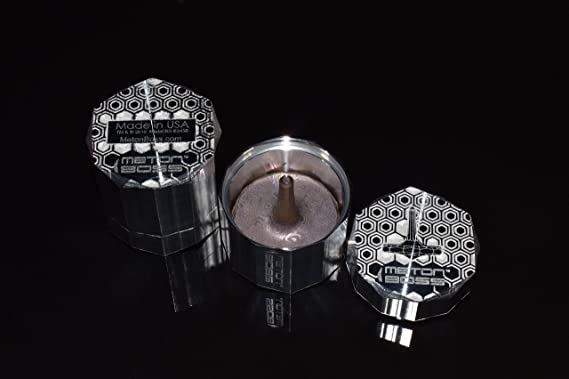 Aerospace Grade 5 Titanium MetonBoss MOKUME-Gane Roman Titanium Spinning Top Anodized Golden Magenta