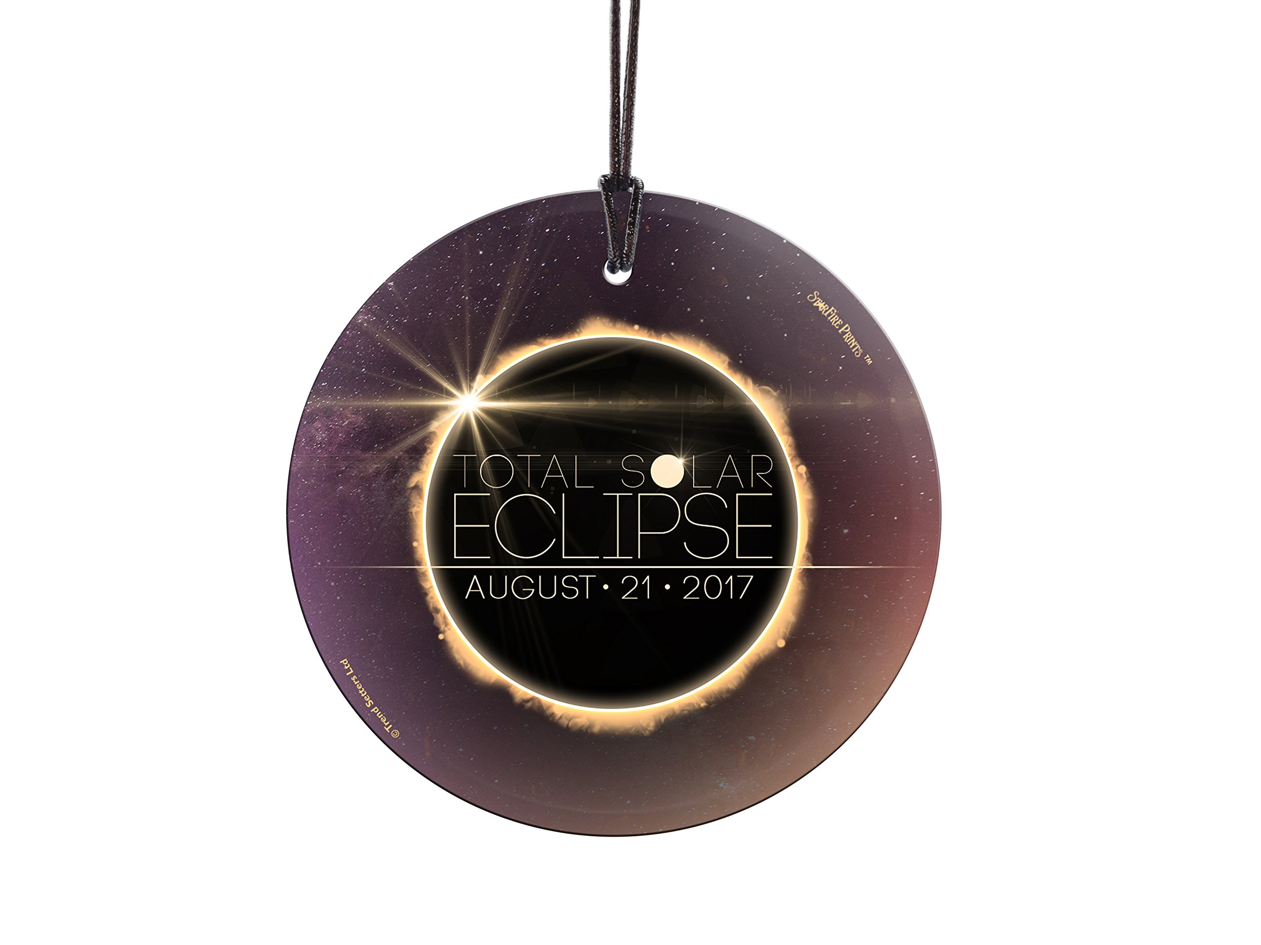 Total Solar Eclipse 2017 StarFire Prints Glass Ornament - Home and Christmas Tree Decoration