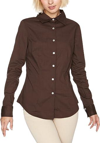 Timberland - Camisa de Manga Larga para Mujer, Talla XL, Color Marrón: Amazon.es: Ropa y accesorios