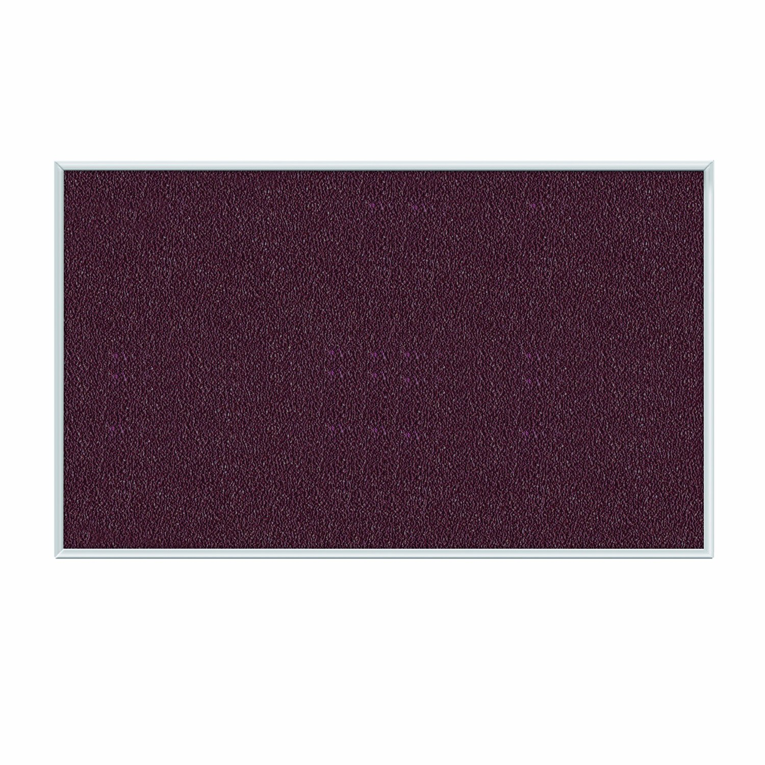Ghent Berry Vinyl Bulletin Board, 48.5'' x 96.5'', Aluminum Frame, Made in the USA