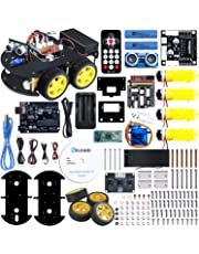 ELEGOO UNO Project Smart Robot Car Kit V 3.0 with Line Tracking Module, Ultrasonic Sensor etc. Intelligent and Educational Toy Car Robotic Kit for Kids Teens