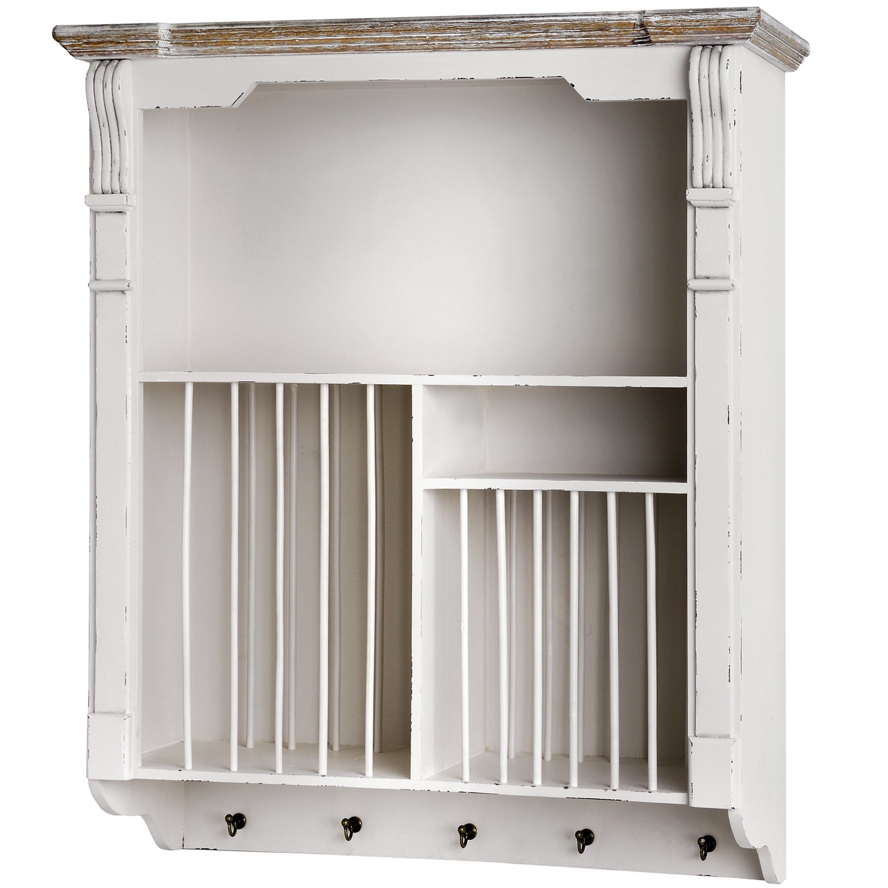 Hill Interiors New England Wooden Plate Rack Cabinet (One Size) (White)