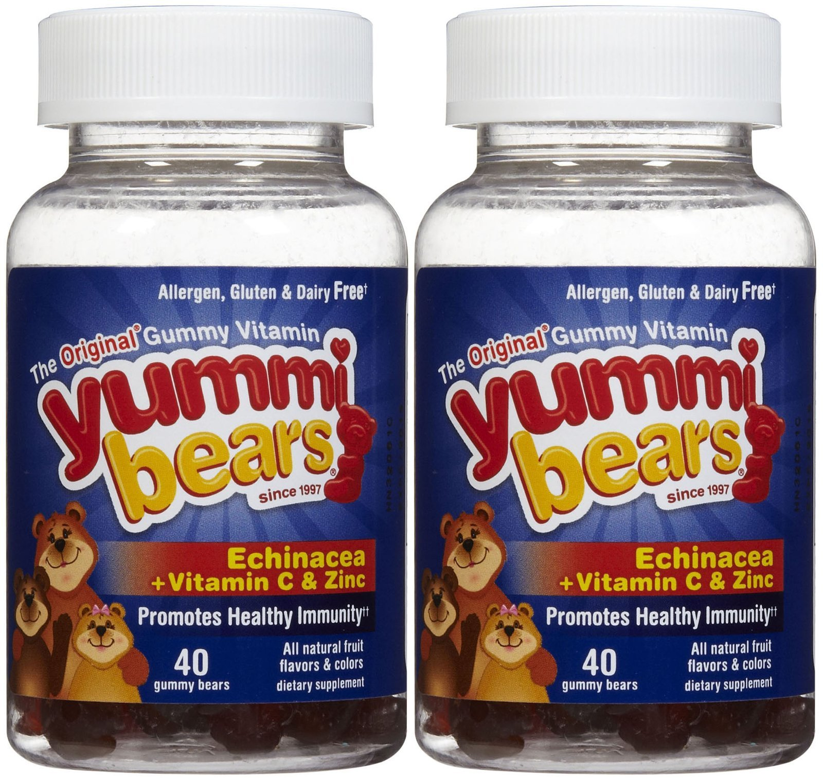 Yummi Bears Echinacea with Vitamin C & Zinc Gummies - Fruit Flavor - 80 ct - 2 pk