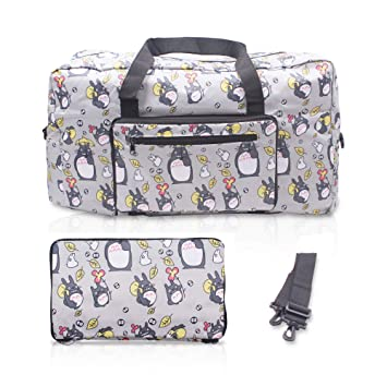 a7d4170157b0 Finex My Neighbor Totoro Foldable Easy-to-carry Travel Bag for airplanes  with adjustable strap - Gray