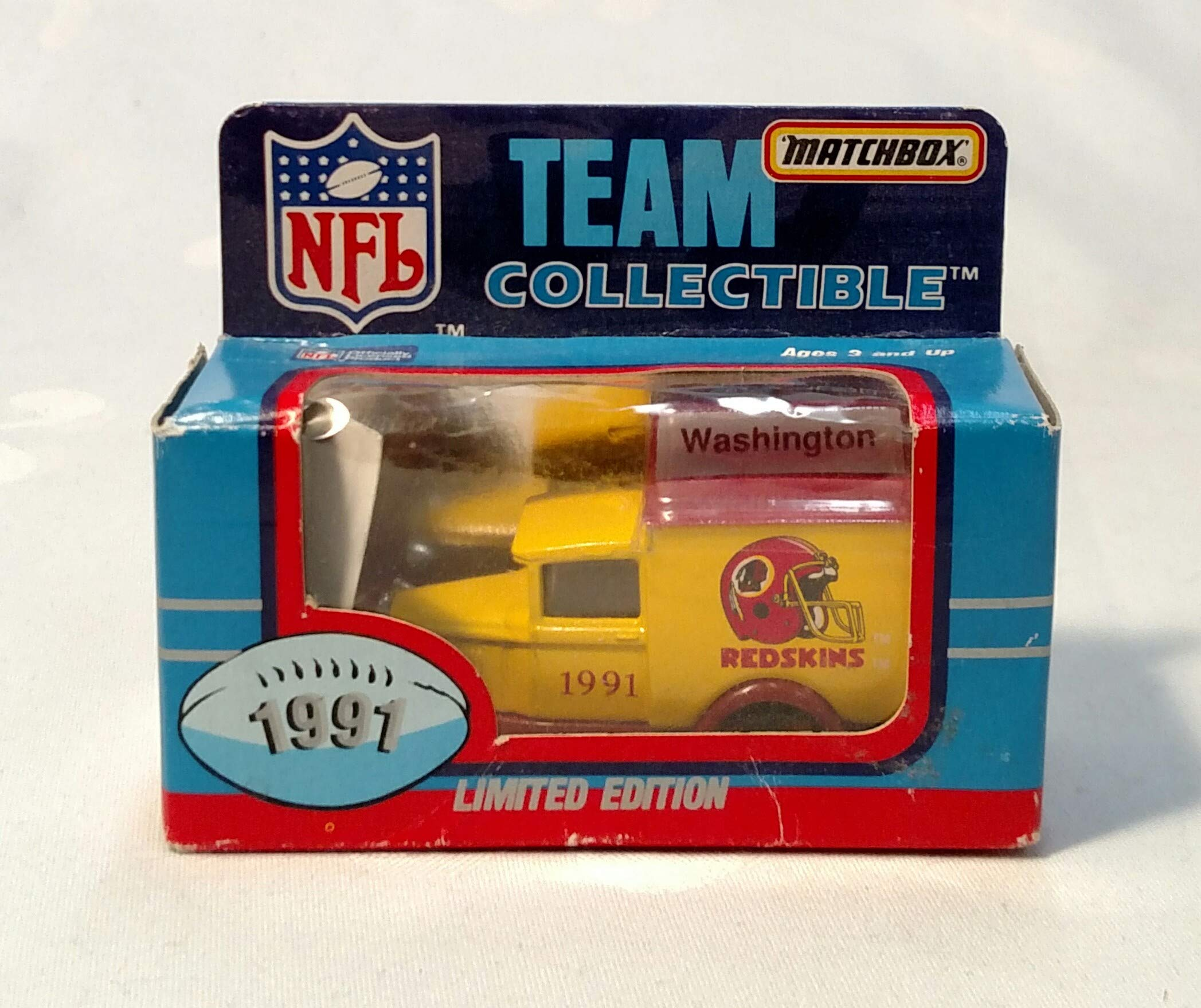 Washington Redskins 1991 Limited Edition Matchbox Die Cast Collectible