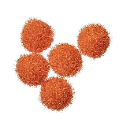 4580d20f019e Amazon.com  Darice Acrylic Pom Poms - Orange - .5