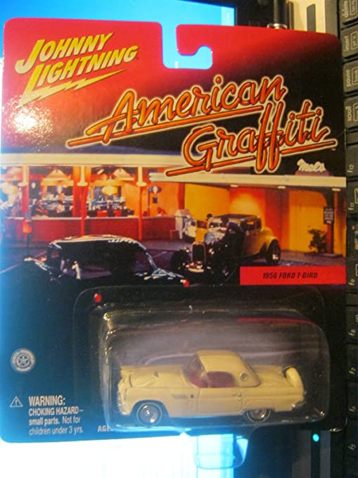 Johnny Lightning American Graffiti 1956 Ford T-Bird White