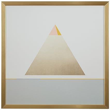 Amazon.com: Rivet Modern Gold Pyramid Triangle Print, 12\