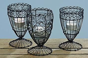 Bella vita dapo windlichter evelyn aus draht und glas