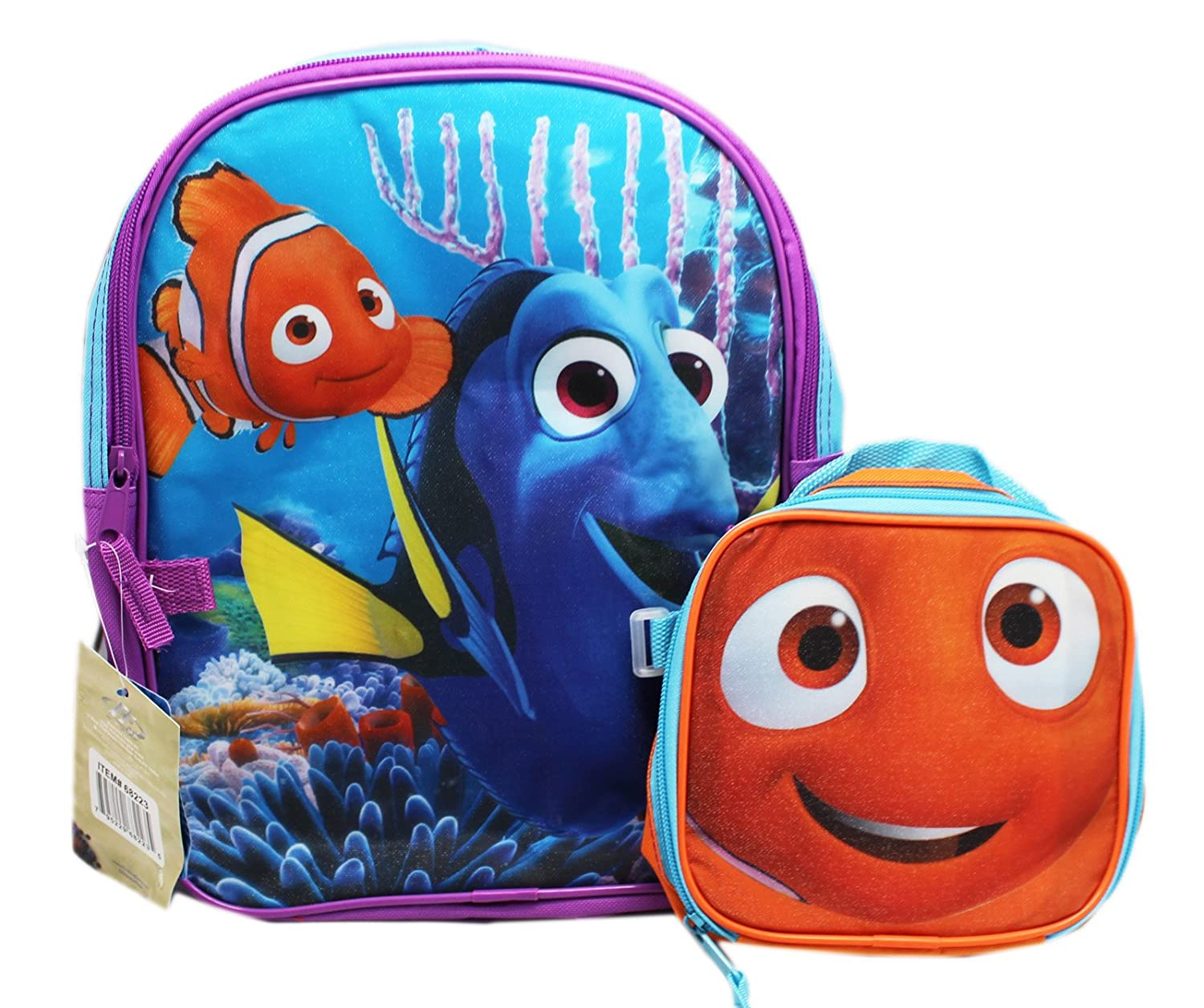 Finding Dory   Nemo 12 Toddler Backpack With Lunch Bag chic ... 1cea08c09cf0c