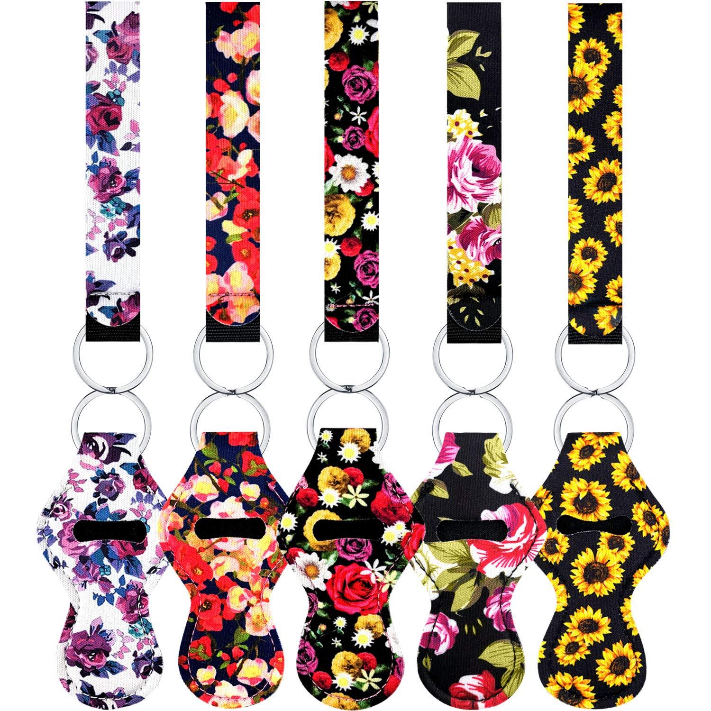 minimalist Camo Chapstick holder with wristlet friends moms teens stocking stuffer Key fob keychains for women Gift ideas for women