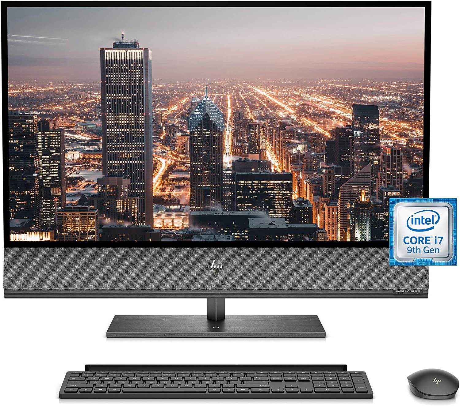 HP Envy 32 All-in-One Computer, 9th Gen Intel Core i7-9700 Processor, 4K UHD Monitor, NVIDIA GeForce GTX 1650 Graphics (4 GB), 16 GB RAM, 1 TB SSD, Windows 10 (32-a0010, Nightfall Black)