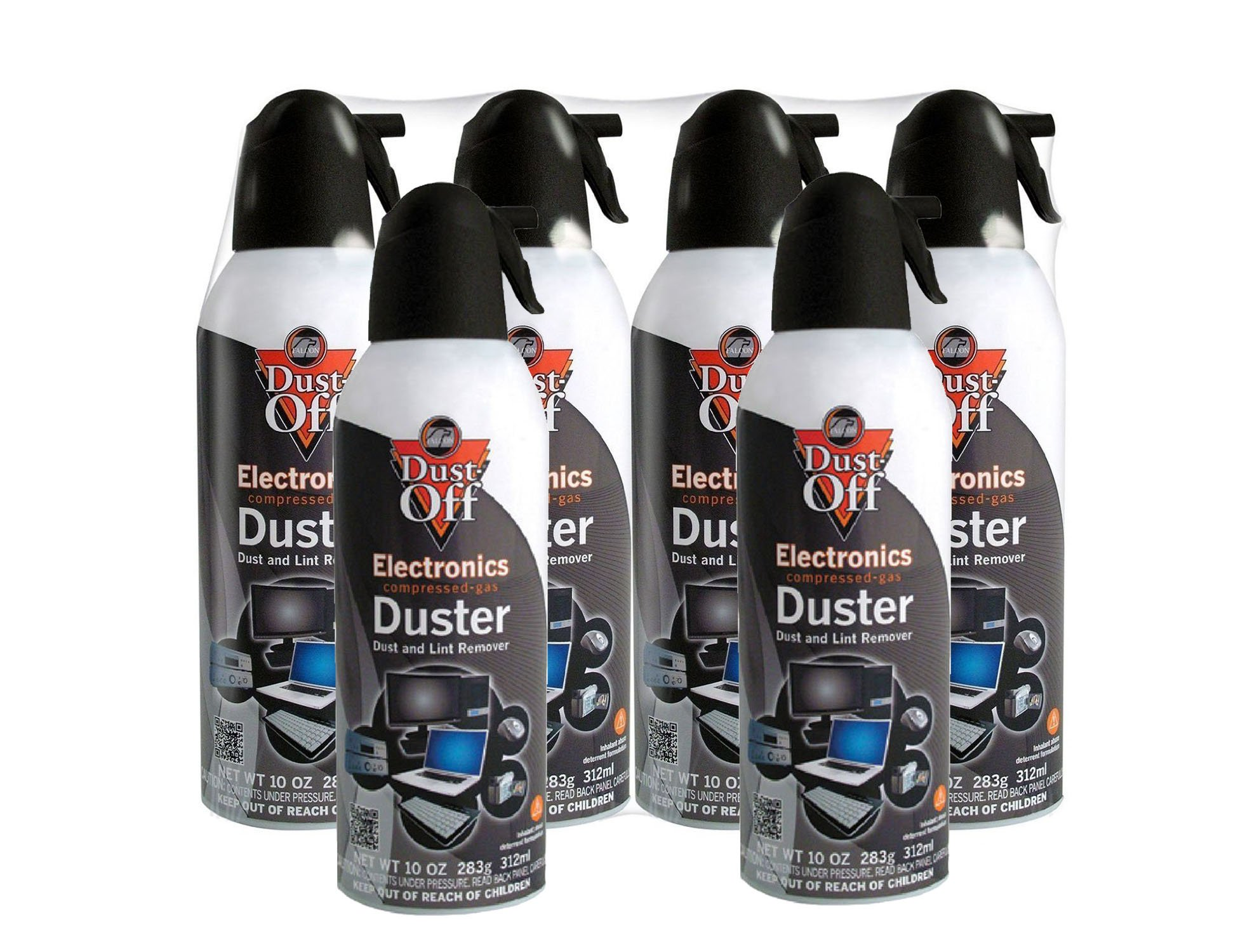 Dust-Off Disposable Compressed Gas Duster, 10 oz Cans, 6 Pack