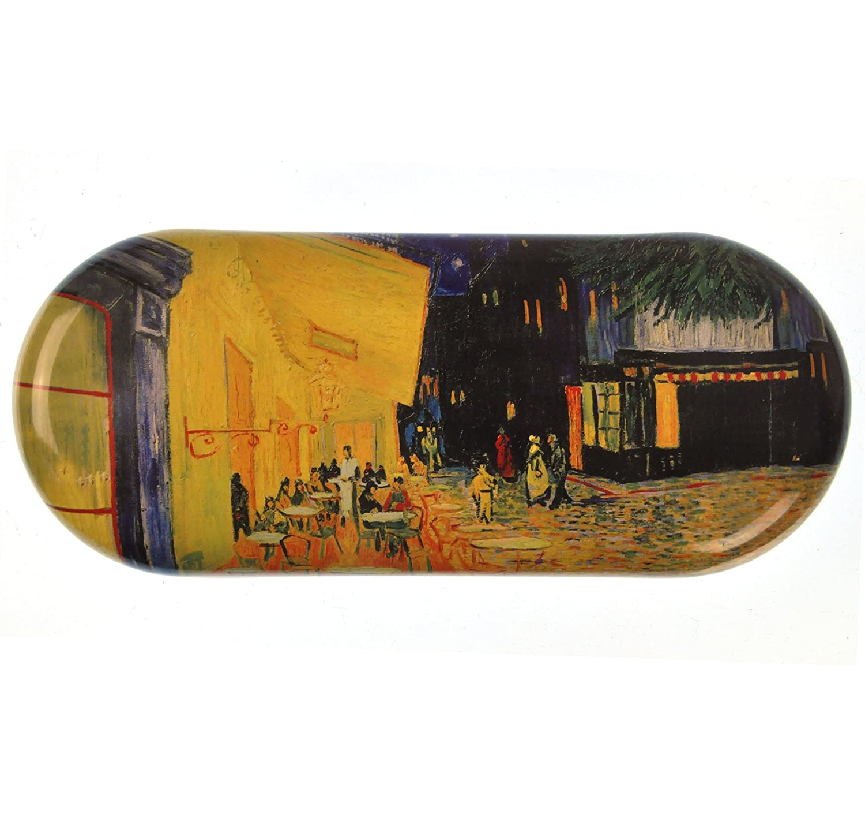 Fridolin 18761Van Gogh - Custodia per Occhiali con caffè di Notte, in Metallo, Dimensioni 16x 6,6x 2,8cm