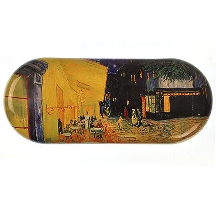 Fridolin 18761 - Estuche de Gafas en Metal con diseño de Pintura El Café de Noche de Van Gogh, 16 x 6,6 x 2,8 cm