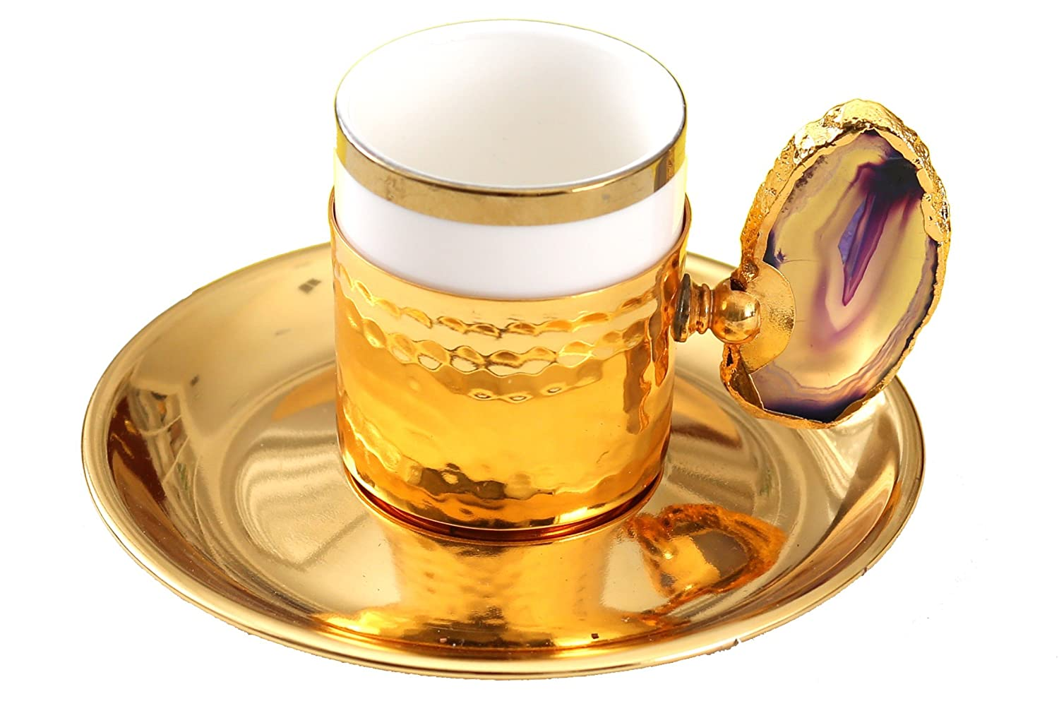 Handcrafted Gold Plated Copper Cup for Turkish, Arabic Coffee & Espresso (1 pc) Turkish made