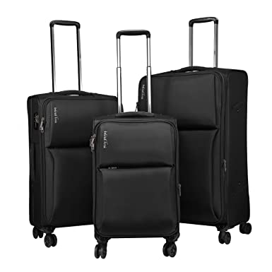 Amazon.com | Windtook 3 Piece Luggage Sets Expandable Spinner ...