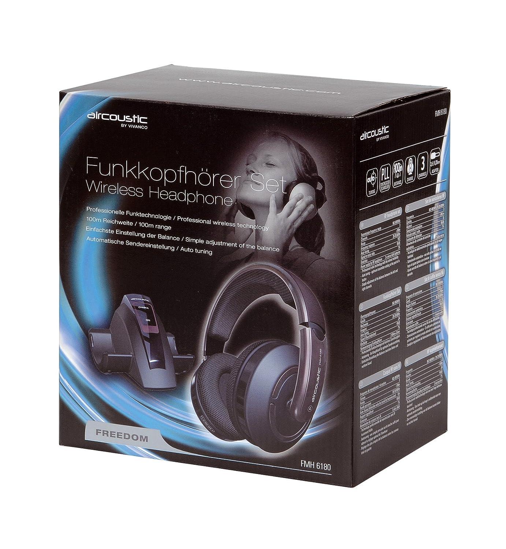 Aircoustic FMH 6180 Freedom - Set de auriculares inalámbricos con ajuste automático y controlador de volumen color morado: Amazon.es: Electrónica