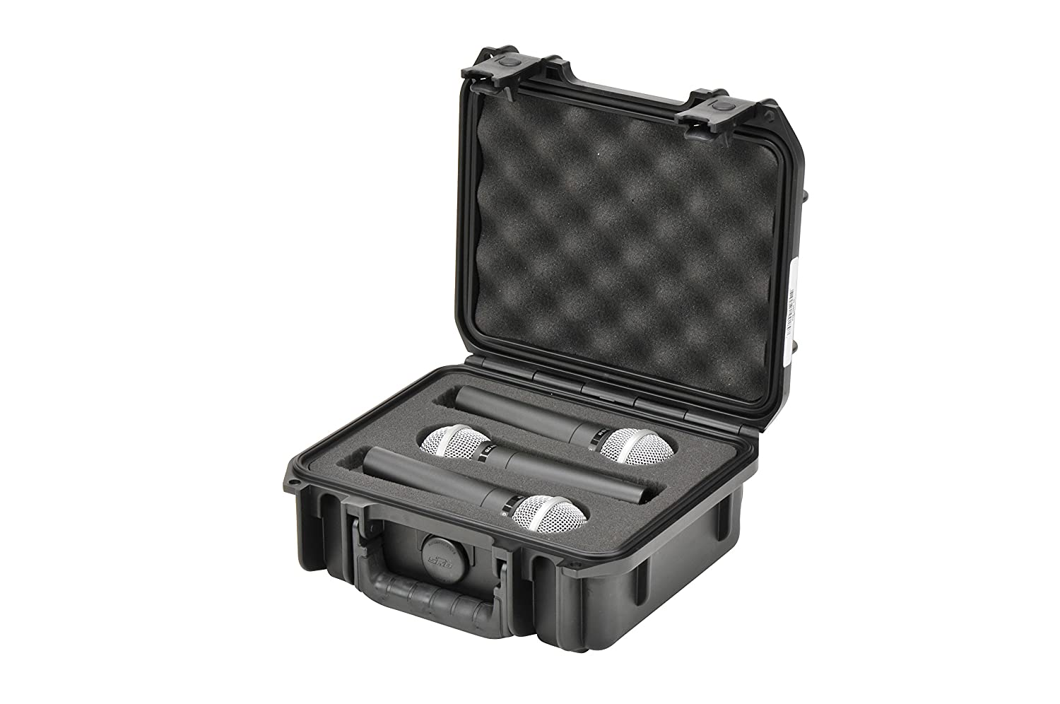 SKB 3I-0907-MC3 iSeries Injection Molded Mic Case with Foam for 3 Mics with Storage Compartment SKB Cases