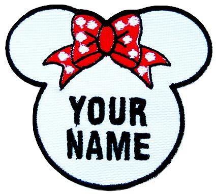 Emporium Embroidery Minnie - Parches Bordados Personalizables para Coser, Planchar o Pegar en el Sombrero