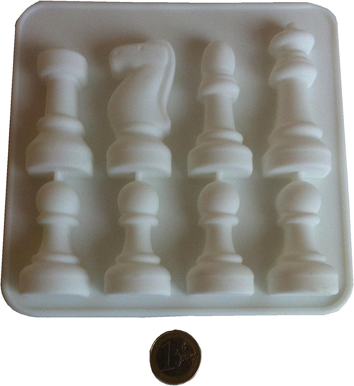 cioccolatini Ruda accessori da cucina Set di 6 stampi 3D a scacchi per gioielli