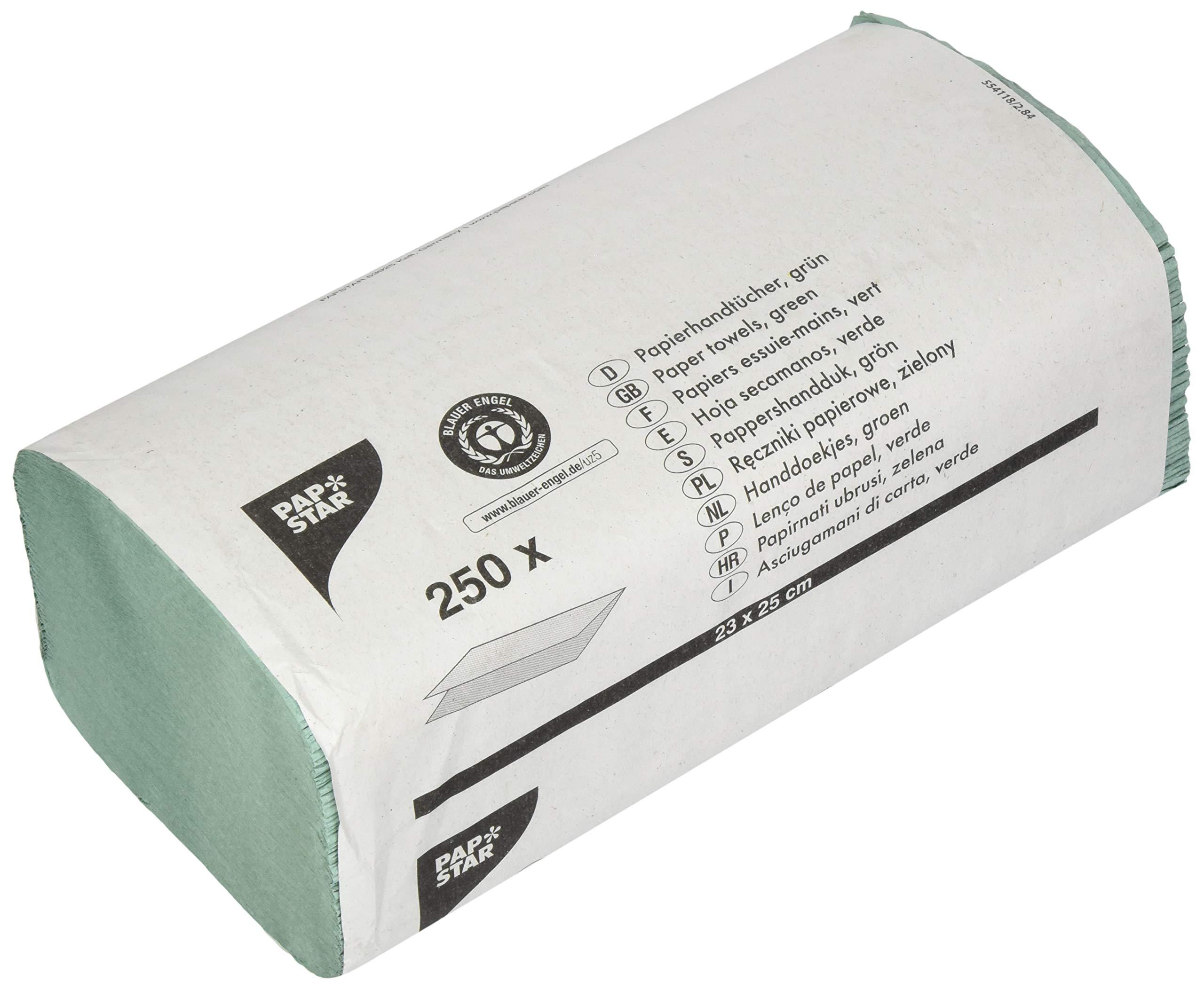 Papstar 17205 Hand Towel Paper 23 Cm X 25 Cm Green Zig Zag V Fold 1 Ply 250 Sheets Buy Online In Burundi At Burundi Desertcart Com Productid 167848621