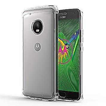 OMOTON Funda Motorola Moto G5 plus,Carcasa Moto G5 plus Case,Suave TPU y Transparencia PC,Alta Defensa,Funda Protectora Compacta,5.2Inch,Transparencia