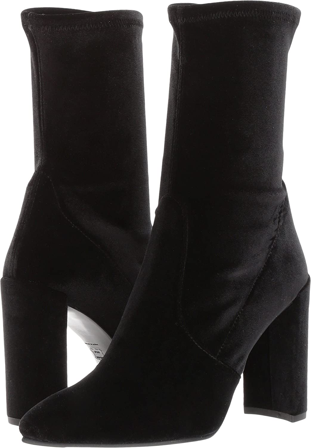 Stuart Weitzman Women's Clinger Ankle Boot B06W2HKSHQ 10 B(M) US|Nero Stretch Velvet