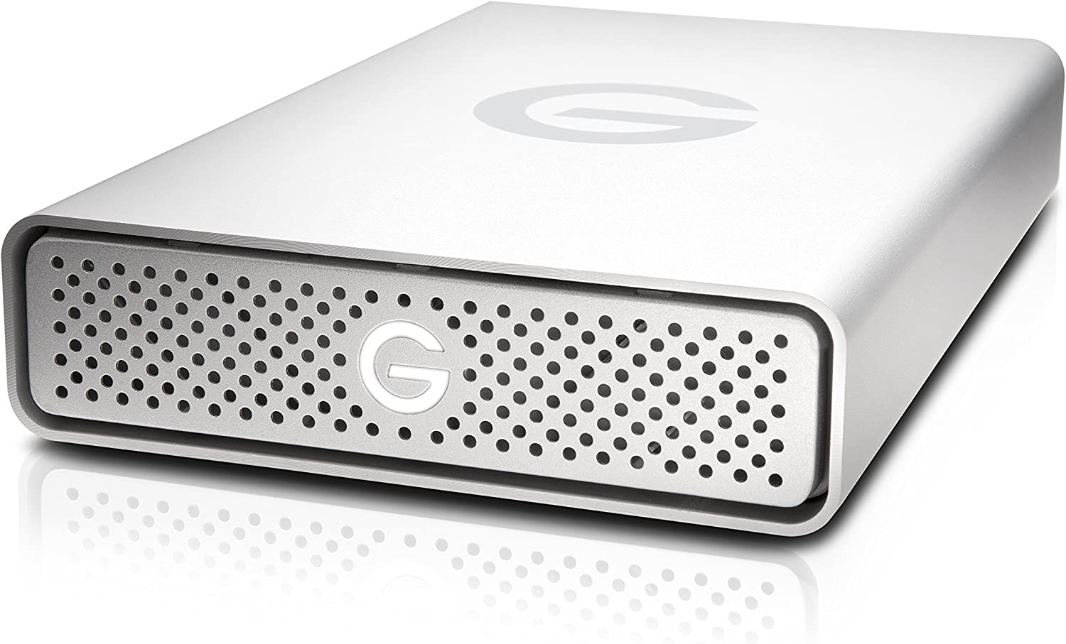 G-Technology 4TB G-DRIVE USB 3.0 Desktop External Hard Drive, Silver - Compact, High-Performance Storage - 0G03594-1