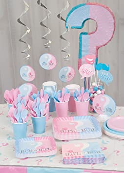 6 Mini Gender Reveal Centerpiece Decorations 4ct