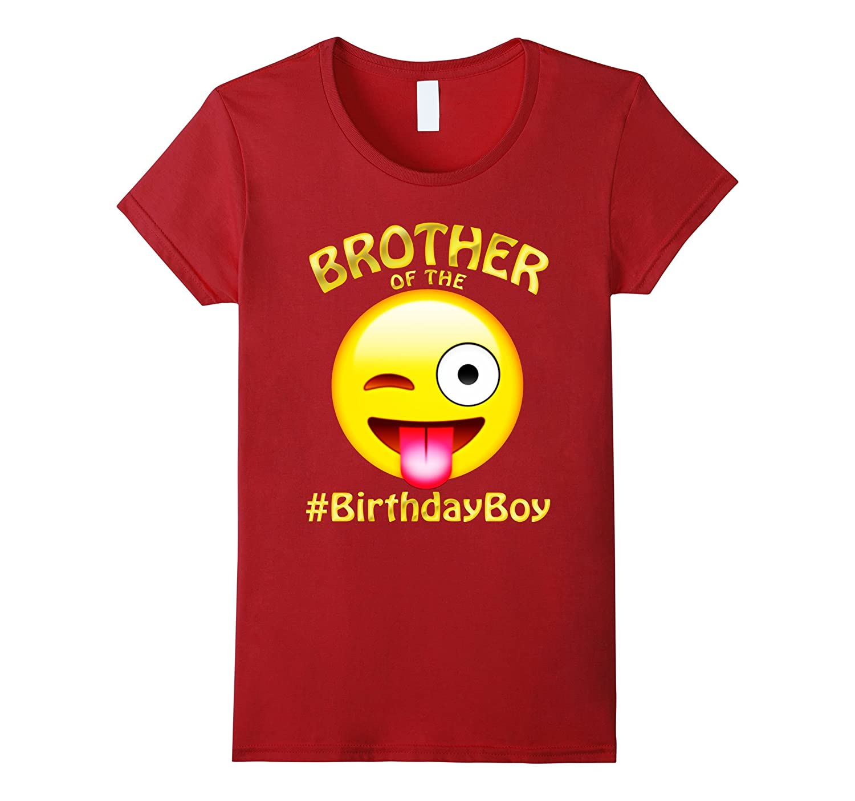 Brother Of The Birthday Boy Emoji T-Shirt for cool Boy