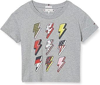 Tommy Hilfiger On Tour tee S/S Camisa para Niñas: Amazon.es ...
