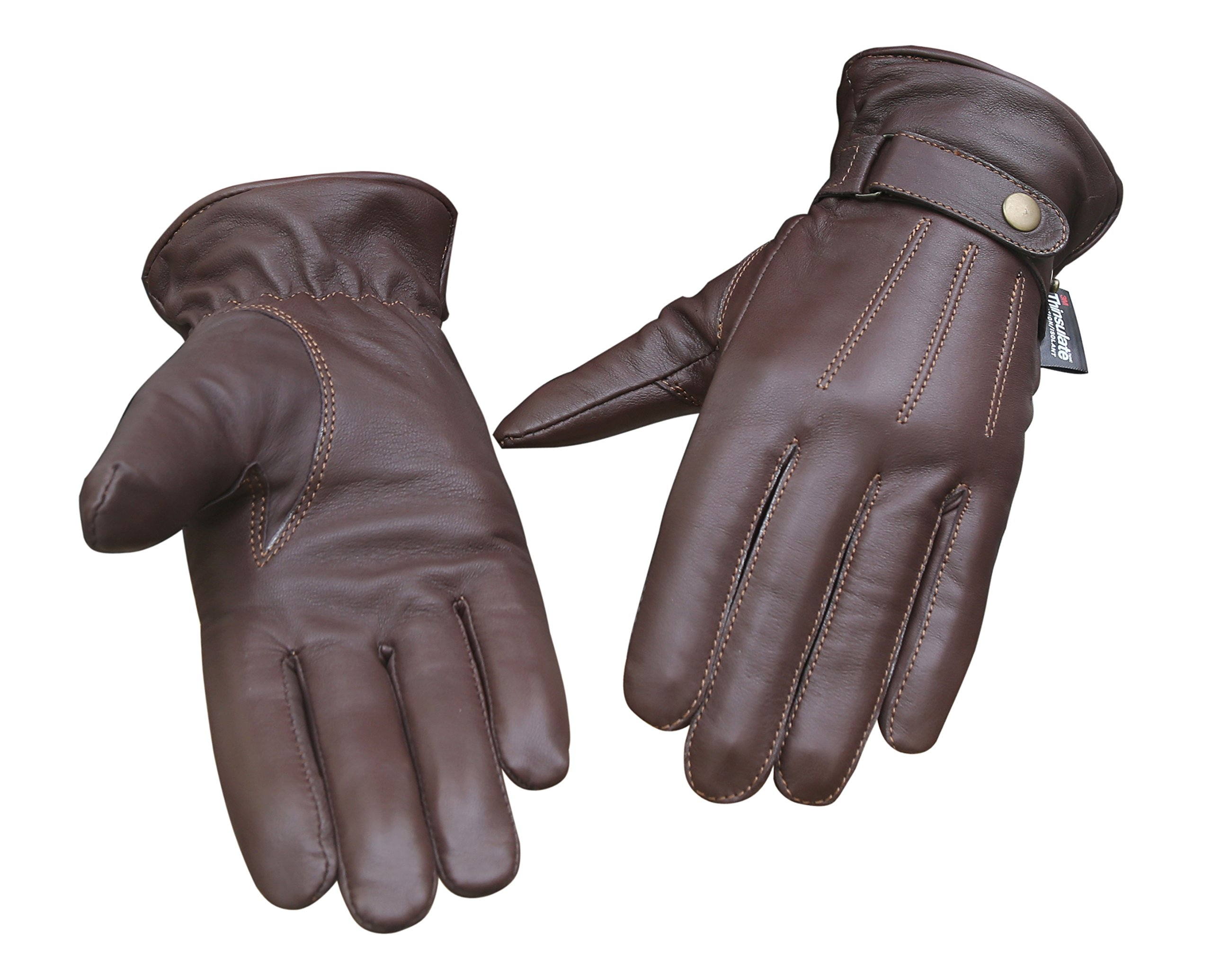 Soft Sheep Leather Outdoor Driving Cycling Fashion Winter Women Gloves (Large)