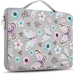 """Hseok Laptop Sleeve 13-13.5 Inch Case Briefcase, Compatible All Model of 13.3 Inch MacBook Air/Pro, XPS 13, Surface Book 13.5"""" Spill-Resistant Handbag for Most Popular 13""""-13.5"""" Notebooks, Butterfly"""