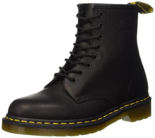 bf1517e14 Dr. Martens Amphibian 1460 Black Greasy Black Leather Boots 41 ...