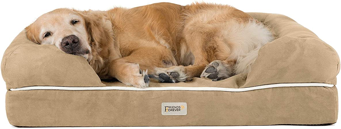 Friends Forever Orthopedic Dog Bed Lounge Sofa Removable Cover