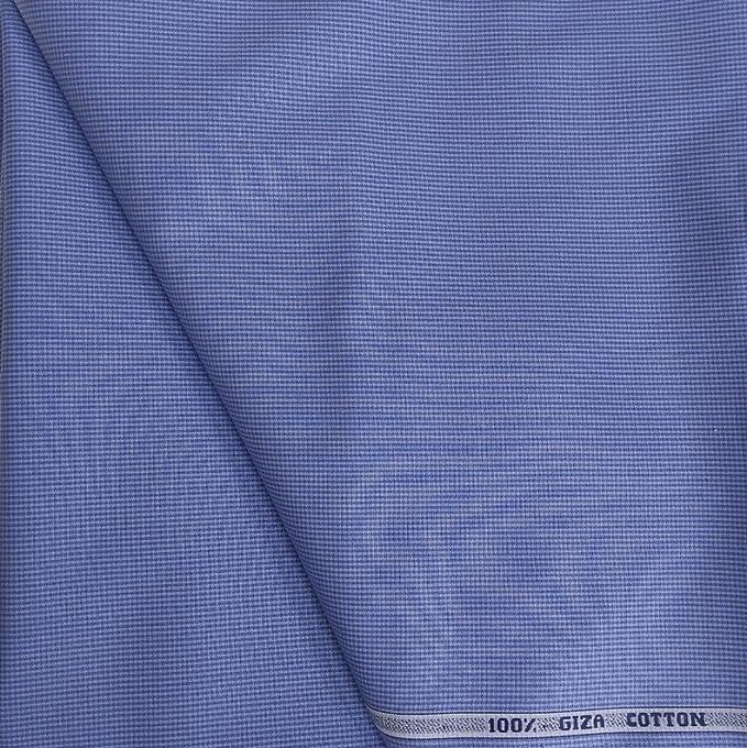 f81d88614b5 Raymond Men s Cotton Unstitched Shirt Fabric (Blue