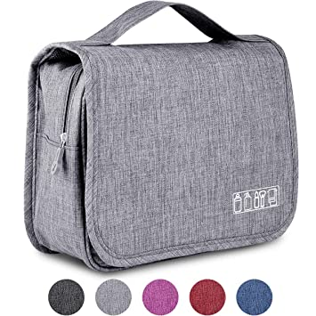 b995428b36f6 Ceephouge Hanging Travel Toiletry Bag, Bathroom Shower Bags Foldable  Toiletries Tote for Men Women...