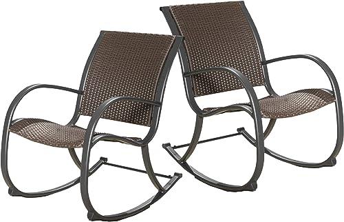 Christopher Knight Home Gracie S KD Rocking Chair Set, 2-Pcs Set, Dark Brown
