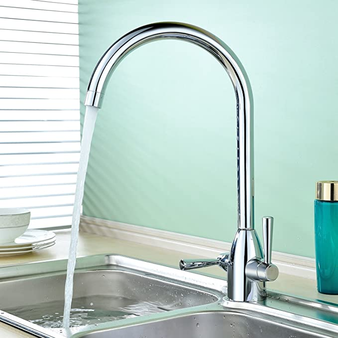 Hapilife Contemporary Kitchen Tap Two Handles Swivel Spout Sink ...
