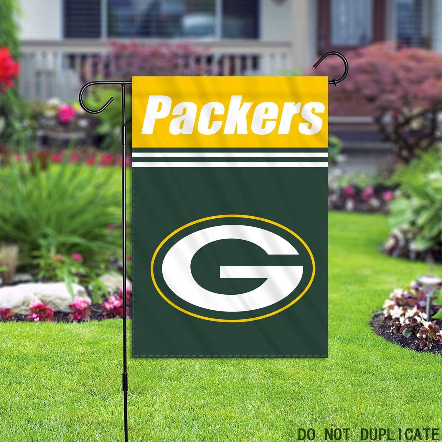 X.NVIOA Green Bay Packers Double Sided and Stitched Garden Flag 12.5 x 18 Inch NFL Banner Spuer Bowl Yard Outdoor Decor
