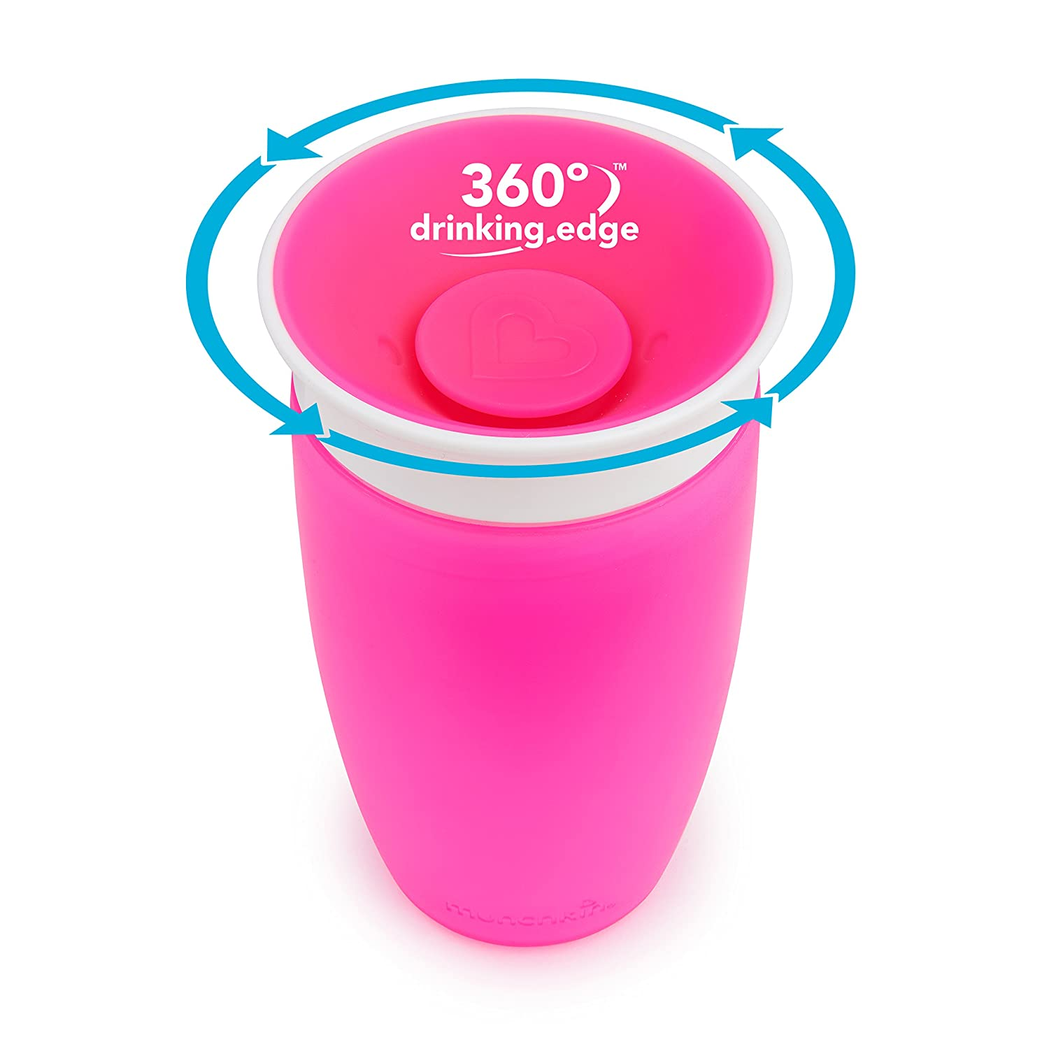 Munchkin Miracle 360 Sippy Cup Pink Orange 10 Ounce 2