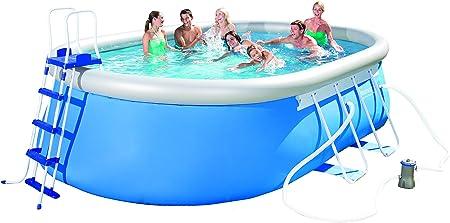 Bestway – Piscina ovalada 549 x 366 x 122 cm – Fast Set Pool autoportante: Amazon.es: Jardín