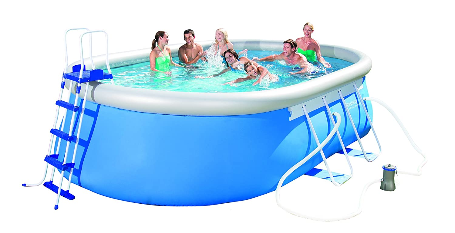 Bestway - Piscina Ovalada 549 x 366 x 122 cm - Fast Set Pool ...