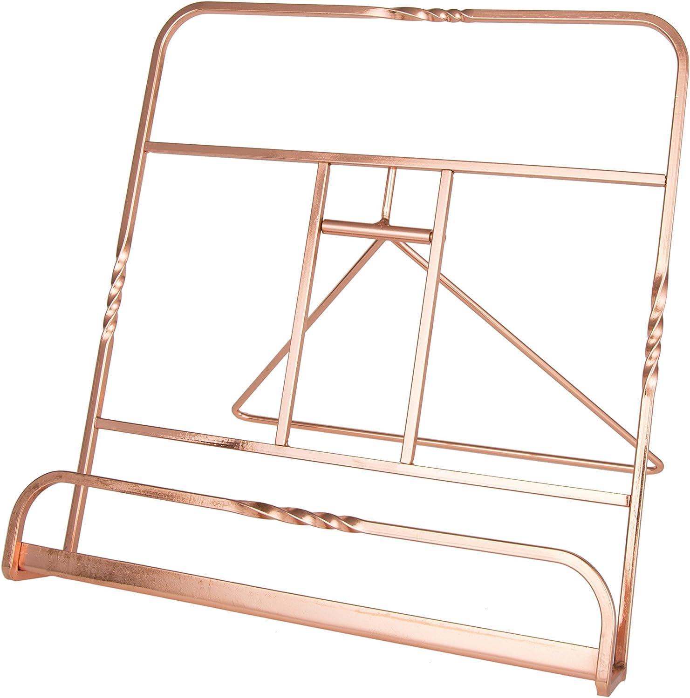 Creative Home 50231 Renaissance Copper Plated Cookbook Holder, Copper, 10