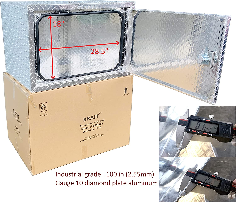 BRAIT Heavy Duty Commercial Grade Aluminum Underbody Truck Tool Box 24x24x24
