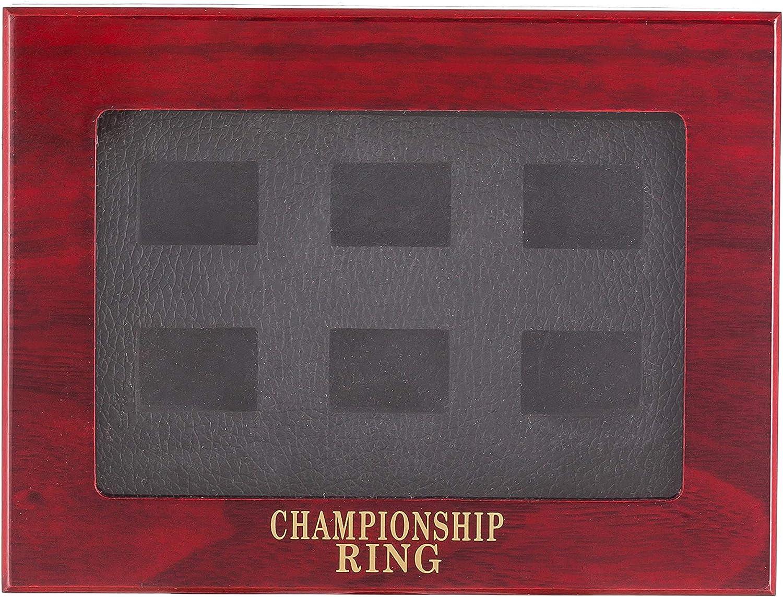 charlinliol Wooden Championship Rings Display Case Box