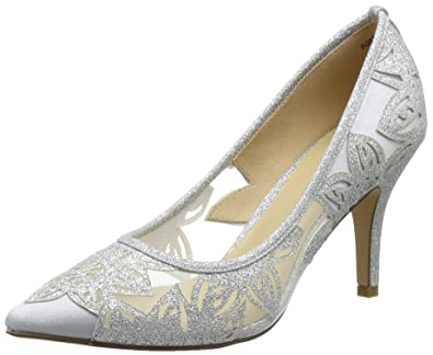 Lotus Damen Groove Plateaupumps Silber