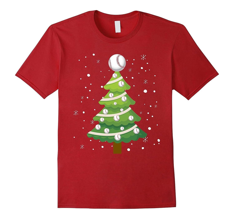 funny baseball christmas tree t shirt xmas gift tee anz - Baseball Christmas